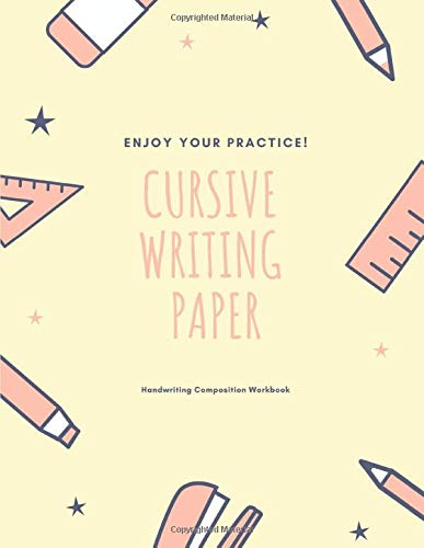 Cursive Writing Paper: Handwriting Practice Workbook for Kids and Teens , 120 pages, 8.5x11 inches  no.20
