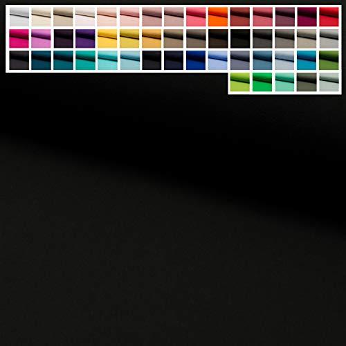 Jersey Stoff Uni Oeko-Tex Meterware ab 25 cm - einfarbiger Jersey in vielen Farben (25. Schwarz)