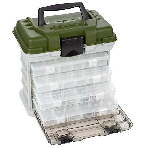 Zite Fishing Angelkoffer mit 4 Tackleboxen für Angelzubehör - Gerätekoffer & Angelkasten mit Boxen für Köder & mehr