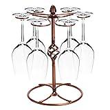 Fantes - Botellero creativo de acero inoxidable, soporte para botellas de vino, regalo para decoración del hogar (bronce - flor)