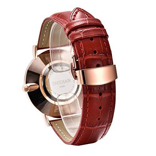 BIGSTAR Minimalistisches Design Kompatibel mit Apple Uhrband 38mm / 40mm / 42mm / 44mm Krokodillederband, Lederband kompatibel mit Iwatch Serie 5/4/3/2/1 (Color : D-3, Size : 42mm)