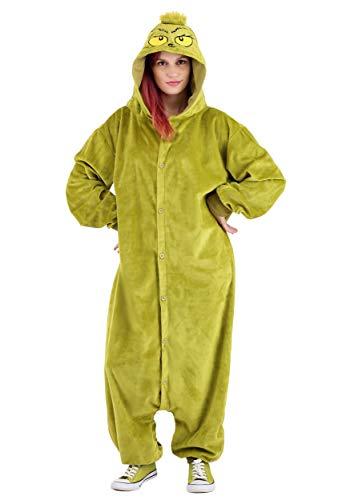 Dr. Seuss The Grinch Kigurumi Jumpsuit Sleepwear Costume Adult One Size