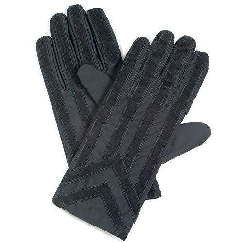 Totes ISOTONER Männer StrickenLined Elasthan Fahren Handschuh, XL, Schwarz