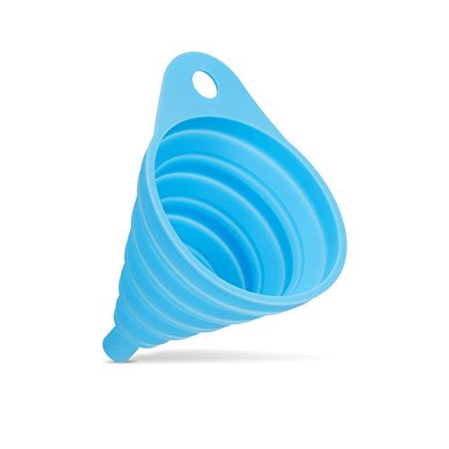 PITANGO Embudo de Silicona Plegable Folding Funnel para Cocina Resistente a Calor (AZUL)
