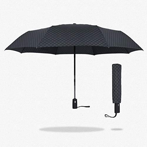 Unbekannt FEI Self-Made Self-Made Doppelschirm Männer 'S Dreifach Creative Business Gitter Gentleman Sunny Regenschirm,AAA