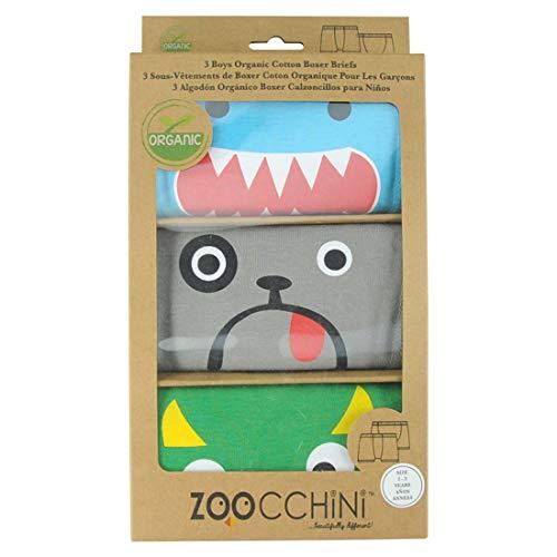 Zoocchini Set mit 3Boxershorts für Jungen, grün, 4-5Jahre