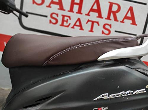 Sahara Seats Rexine Bike Seat Cover for Activa Old 3G/4G/5G/6G (Brown)