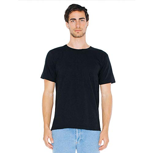American Apparel - Unisex Fine Jersey T-Shirt/Black, S