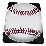 NA Béisbol, Pelota, sóftbol, Campo, Lanzador, Deporte, Juego, Bate y Juego de Pelota Alfombrilla de ratón Base de Goma Antideslizante para computadora de Juegos de Oficina con Borde Cosido