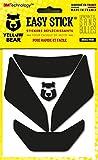 Yellow Bear© Easy Iron, Kit 4 Stickers Rétro réfléchissants REPOSITIONNABLES, pour Casque Moto, 3M™ Technology, Noir