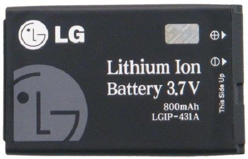 LG SBPL0092202/SBPL0092201 Battery for LG LGIP-431A - Original OEM - Non-Retail Packaging - Black