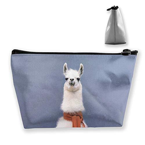 Grappige Llama rode sjaal cosmetische tas make-up opbergtas toilettas organizer potlood tas handtas