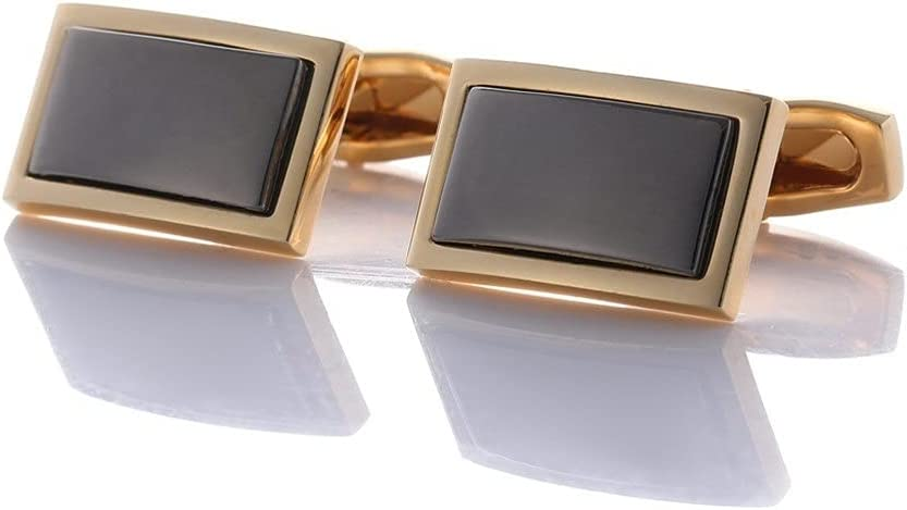 GYZX Cufflinks for Men's Business French Shirt Cuff Buttons are Durable Dinner Party Wedding (Color : Black, Size : As Shown)