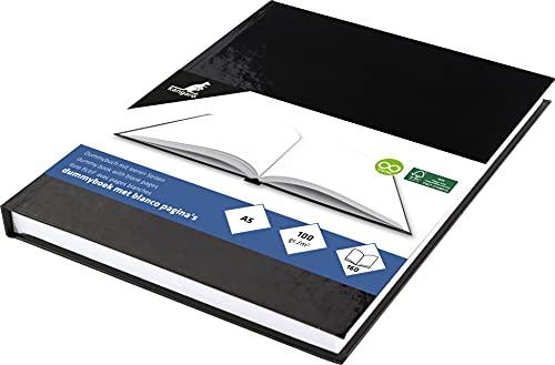 Skizzenbuch Kangaro A5 blanko mit schwarzem Hardcover, 80 Blatt 100g weiß Säurefreies Papier