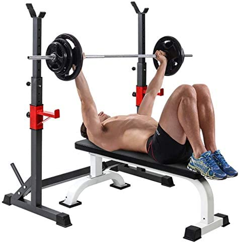 Heavy Duty Barbell Rack Adjustable Barbell Stand for Weight Bench Weight Rack Squat Stand Squat product image