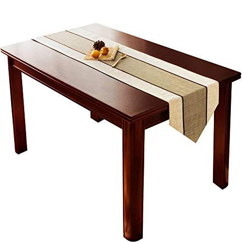 MEI XU Chemins de table - Tissu d'ameublement Décoration Drapeau de table Nappe Table basse Meuble TV Décoration de table Tissu Bande Polyester Tissu Décoration de bureau (taille : 35x220cm)