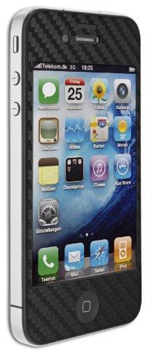 Artwizz ScratchStopper Carbon Schutzfolie mit Carbon-Beschichtung für iPhone 4/4S