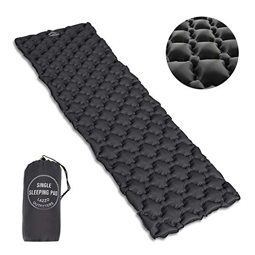LAZZO Double Sleeping Pad-Mat,Ultralight 1800g/63.5oz,Best Sleeping Pads for Camping,Hiking,Backpacking,Tent.Inflates in just 7minutes.(Orange)