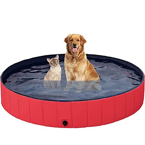 EARSOON Piscina pieghevole per cani, grande o piccola, per nuotare e fare il bagno