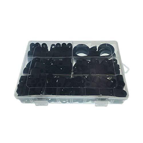 XJF 200 clips de cable de plástico de nailon para abrazaderas tipo R