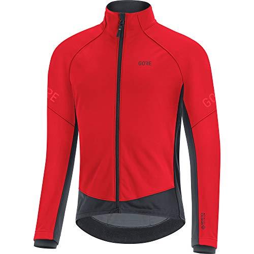 GORE WEAR Herren Thermo Fahrrad-Jacke, C3, GORE-TEX INFINIUM, L, Rot/Schwarz