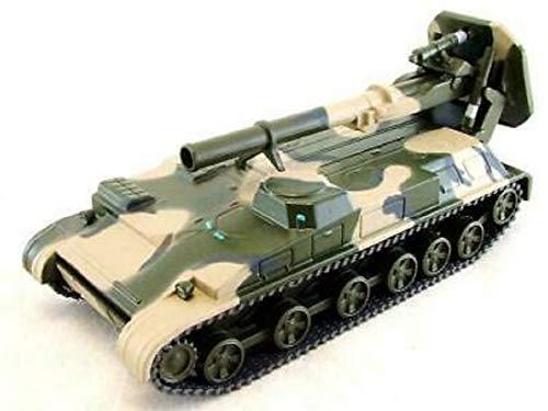 UZTM – 2C4 TULPAN Tanque USSR ruso 1972, modelo blindado 11 cm, para la vitrina tanques o para jugar | Juguetes | Tanque | Artículo de coleccionista | Vehículo de combate