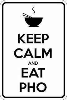 Slap-Art Keep Calm and eat Pho 8x12 Funny Joke Humor Novelty Metal Aluminum Sign