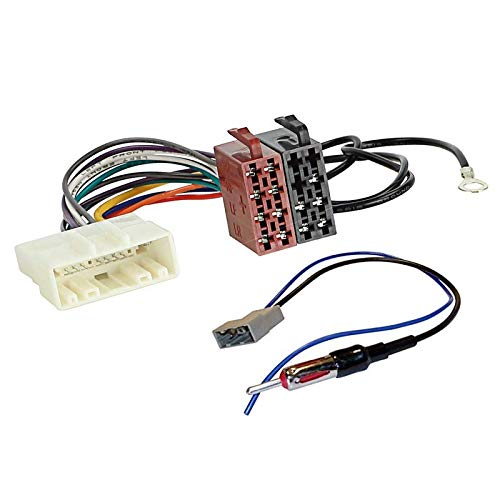 Sound Way Cavo Adattatore Connettore ISO, Adattatore Antenna Autoradio Compatibile con Nissan, Renault, Opel