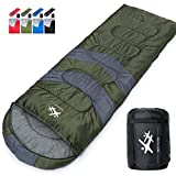Besteam Camping Sleeping Bag Outdoor Ultralight Sleeping Bag Envelope Sleeping Bag (Purple)
