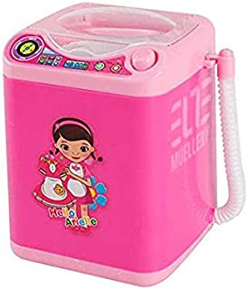 Muellery Makeup Brush Cleaner Device Automatic Cleaning Washing Machine Mini Toy (1pcs, Pink)