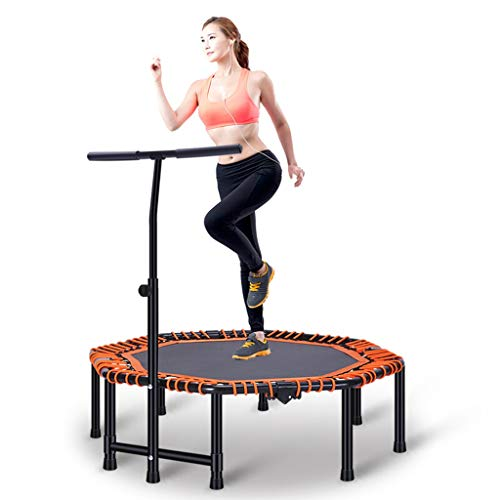 Mini Fitness Trampoline met verstelbare handgrepen, kleine fitnessruimte trampoline for indoor fitness, Bungee Trampoline Jumping Cardio Trainer Workout for Adults
