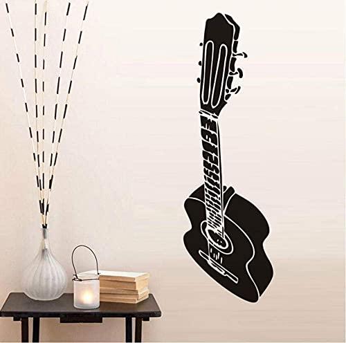 Etiqueta De La Pared Banda Musical Instrumentos Musicales Guitarra Etiqueta De La Pared Música Arte Murales Decoración Del Hogar Vinilo Adhesivo Removible Calcomanías De Pared 18Cm X 59Cm
