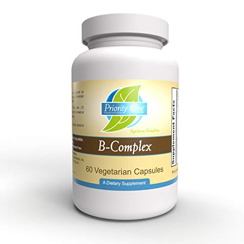 Priority One Vitamins B Complex 60 Vegetarian Capsules - Energy Complex - Mood Support