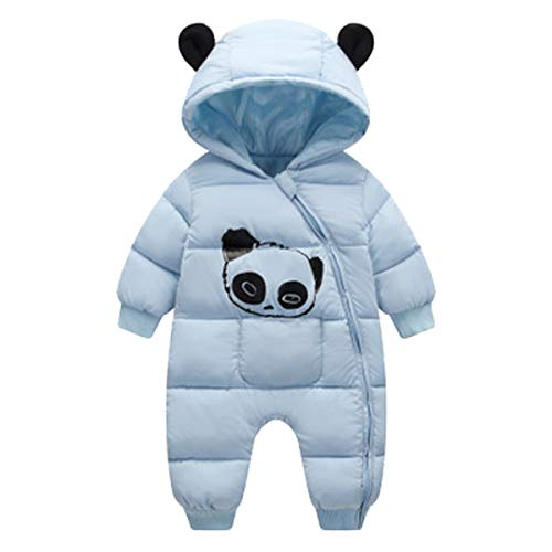 famuka Famuka Baby Schneeanzug Jungen Mädchen Winter Strampler (Blau, 6-12 Monate)