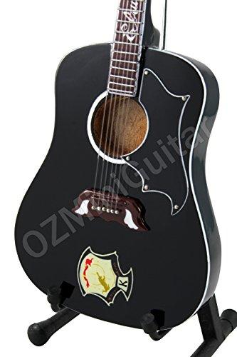 OZMiniGuitar - Guitarra acústica en Miniatura, diseño de Elvis Presley Dove, Color Negro