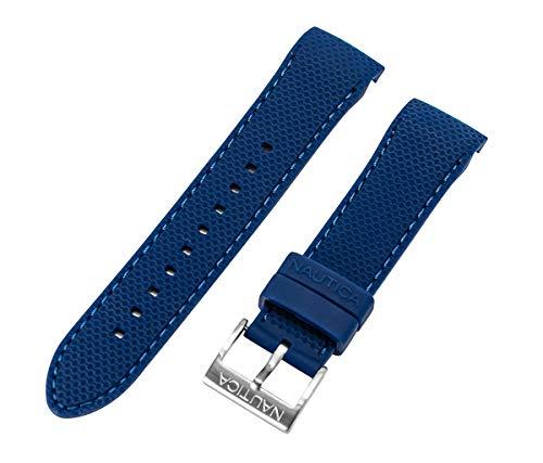 Nautica Herren N19602G | A19602G NST 600 Chrono 22mm Blue PU-Gummi Ersatzarmband