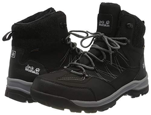 Jack Wolfskin Men's Aspen Texapore Mid M Hiking Boot, Black/Grey, 10.5
