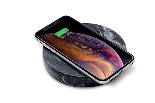 Eggtronic Real Marble Wireless Charging - Powerful and Elegant 10W Wireless Charger for Smartphones, Qi Wireless Certified, Compatible with Apple iPhone, Samsung Galaxy, Huawei - Designed in Italy