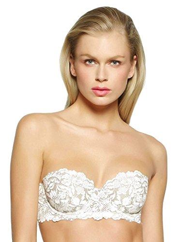 Felina Women's Unveiled Romeo & Juliette Strapless Bra, Winter White, 32DD