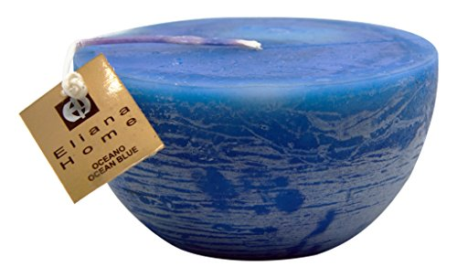 Eliana Home Velaemiesferica Rustico océano, Cera, Azul, 11.50x11.50x6.50 cm