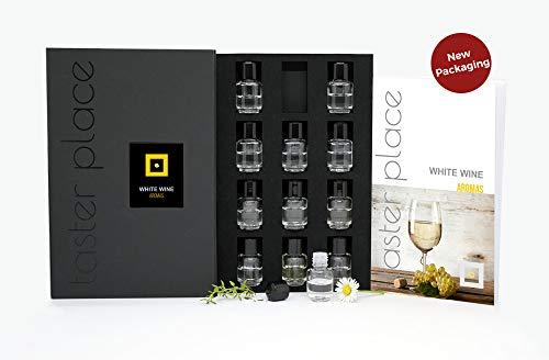 TASTERPLACE Weißweinaromen - englische Version - Verkostungswerkzeug - für Sommelier und Amateure