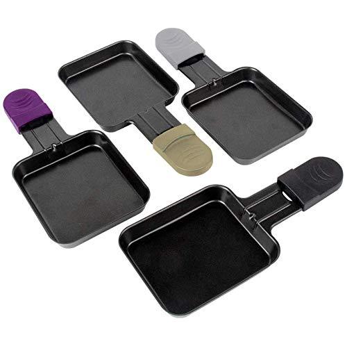 Mini Pfannen für Raclette Grill Zubehör, Raclette Gericht Pfannen Antihaft-Beschichtung, 18x8x0,5cm, 4 Plats