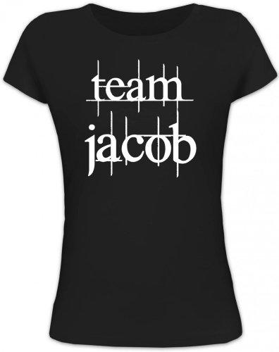 Shirtstreet24, Team Jacob, Lady/Girlie Funshirt Fun T-Shirt, Größe: M,schwarz