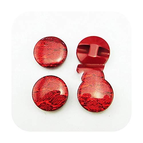 Buttons 40 Stück 15 mm glitzernde Pailletten, Kunstharz, dunkelblau, Knöpfe für Mäntel, Stiefel, Nähen, Kleidung, Zubehör, Kinder-Shirt, Knopf, Kleidung R-115-N-Red