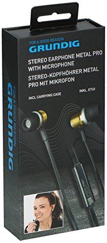 Grundig 8711252863535 Stereo-Kopfhöhrer Metal pro mit Mikrofon schwarz/Gold