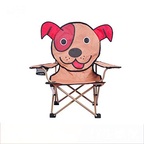 GE&YOBBY Kinderstoel, campingstoel, outdoor vouwen, draagbare kruk met cuphouder voor buiten, picknick, camping 37x60x71cm(15x24x28inch) A