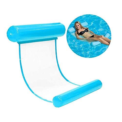Aufblasbare Wasser-Hängematte,Aufblasbares Bett Der Wasserhängematte Schwimmender Schwebender Stuhl PVC Aufblasbar, Tragbar, Schwimmendes Bett, Liege, Drifter, Schwimmbett. 130 * 73Cm