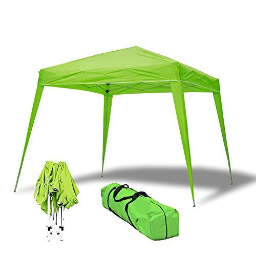 wasabi Carpa Plegable 3x3m Compact Verde de jardín, terraza, Camping, Playa