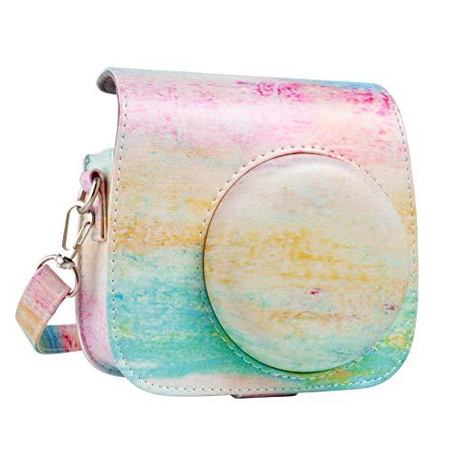 Buy Bargain QUEEN3C Watercolor Mini 9 Camera Case Bag with Adjustable Strap for Fujifilm Instax Mini...