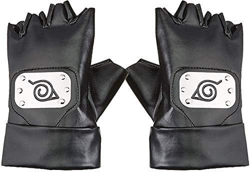 Multiculture Naruto Handschuhe von Kakashi Hatake mit Konoha für Cosplay